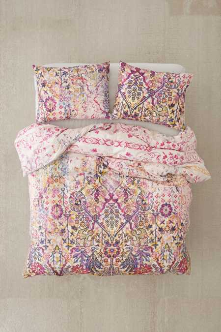 Maya Worn Carpet Duvet Cover