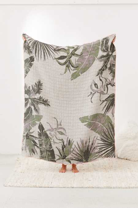 Printed Woven Jacquard Throw Blanket