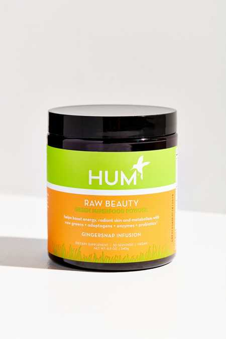 HUM Nutrition Gingersnap Infusion Raw Beauty Green Superfood Powder