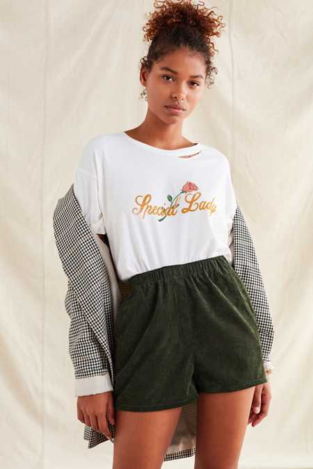 Urban Renewal Recycled Pull-On Corduroy Short