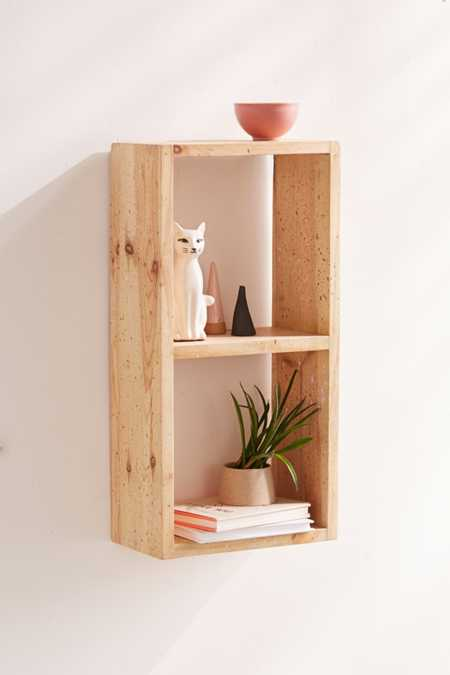 Splattered Wood Shelf