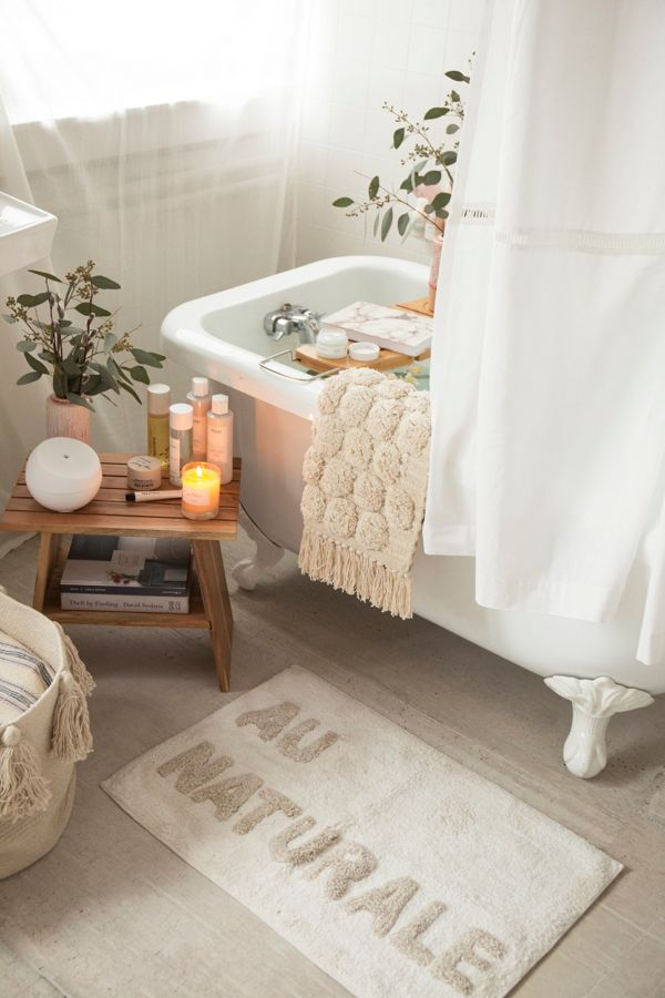 Au Naturale Bath Mat Urban Outfitters - Bathroom outfitters