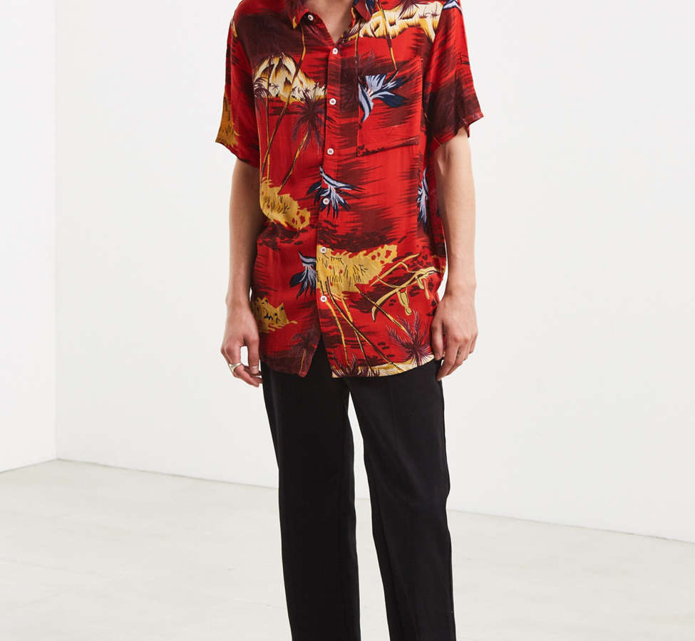 Slide View: 6: Rolla's Tropical Red Button-Down Shirt