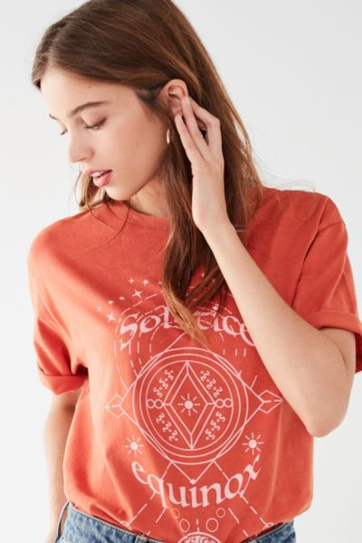 Cooperative Solstice Tee - Rust XS at Urban Outfitters