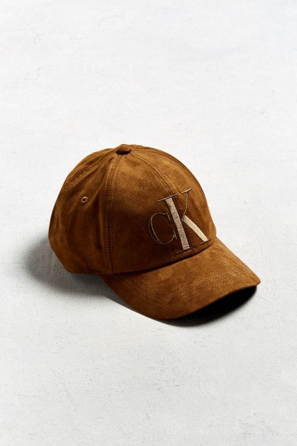 Calvin Klein Tonal Suede Baseball Hat  d1a0592cc