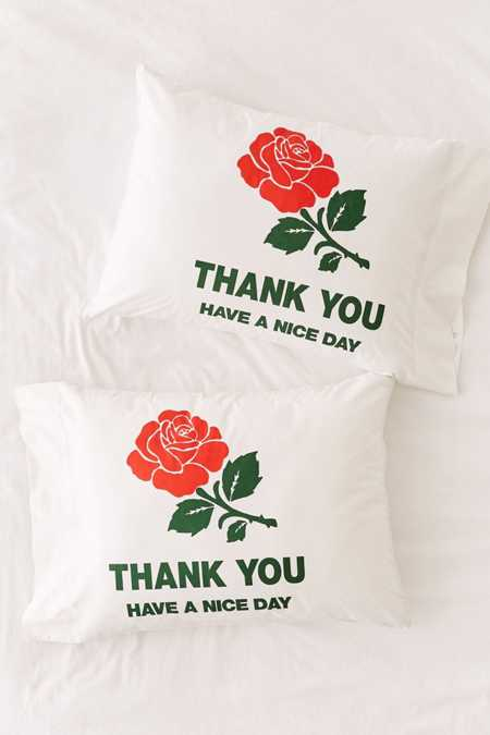 Slide View: 2: Chinatown Market For UO Thank You Pillowcase Set