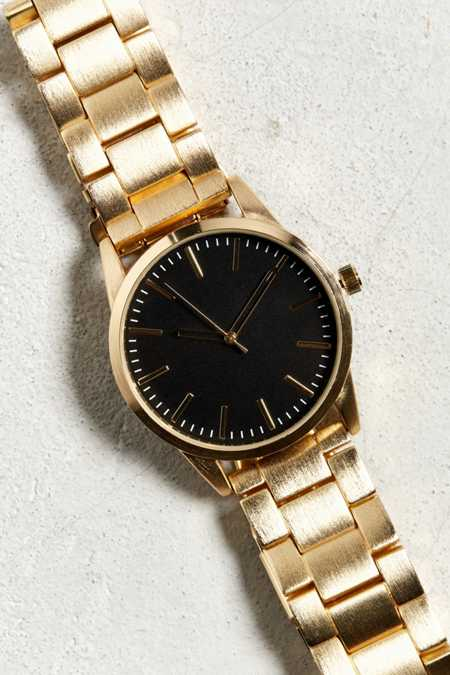 Brushed Metal Bracelet Watch