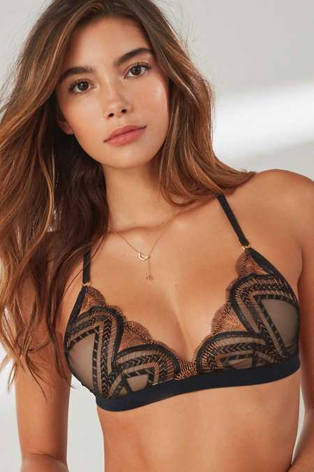 Out From Under Bella Embroidered Mesh Bra