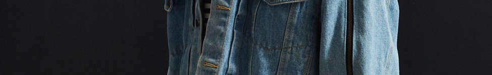 Thumbnail View 3: Vintage Zipper Sleeve Denim Trucker Jacket