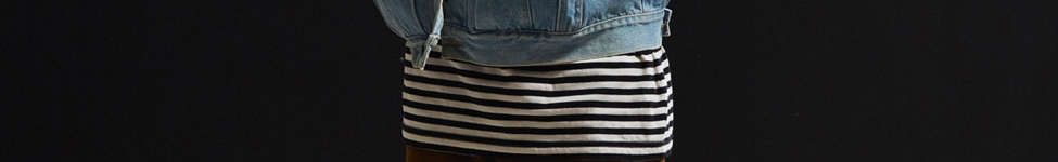 Thumbnail View 6: Vintage Zipper Sleeve Denim Trucker Jacket