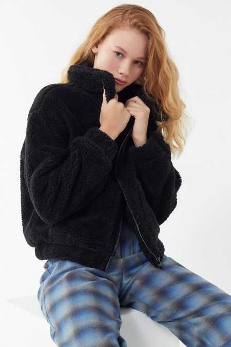 Women S Faux Fur Teddy Fuzzy Jackets Urban Outfitters