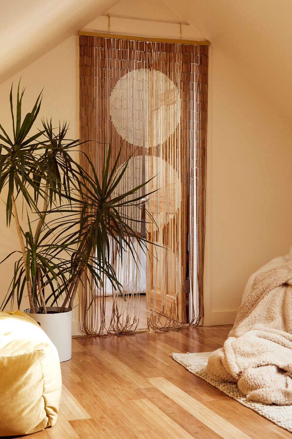 Slide View: 1: Big Dot Bamboo Beaded Curtain