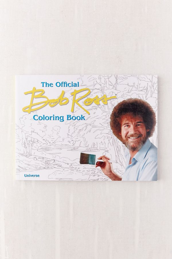 The Bob Ross Coloring Book Urban Outfitters