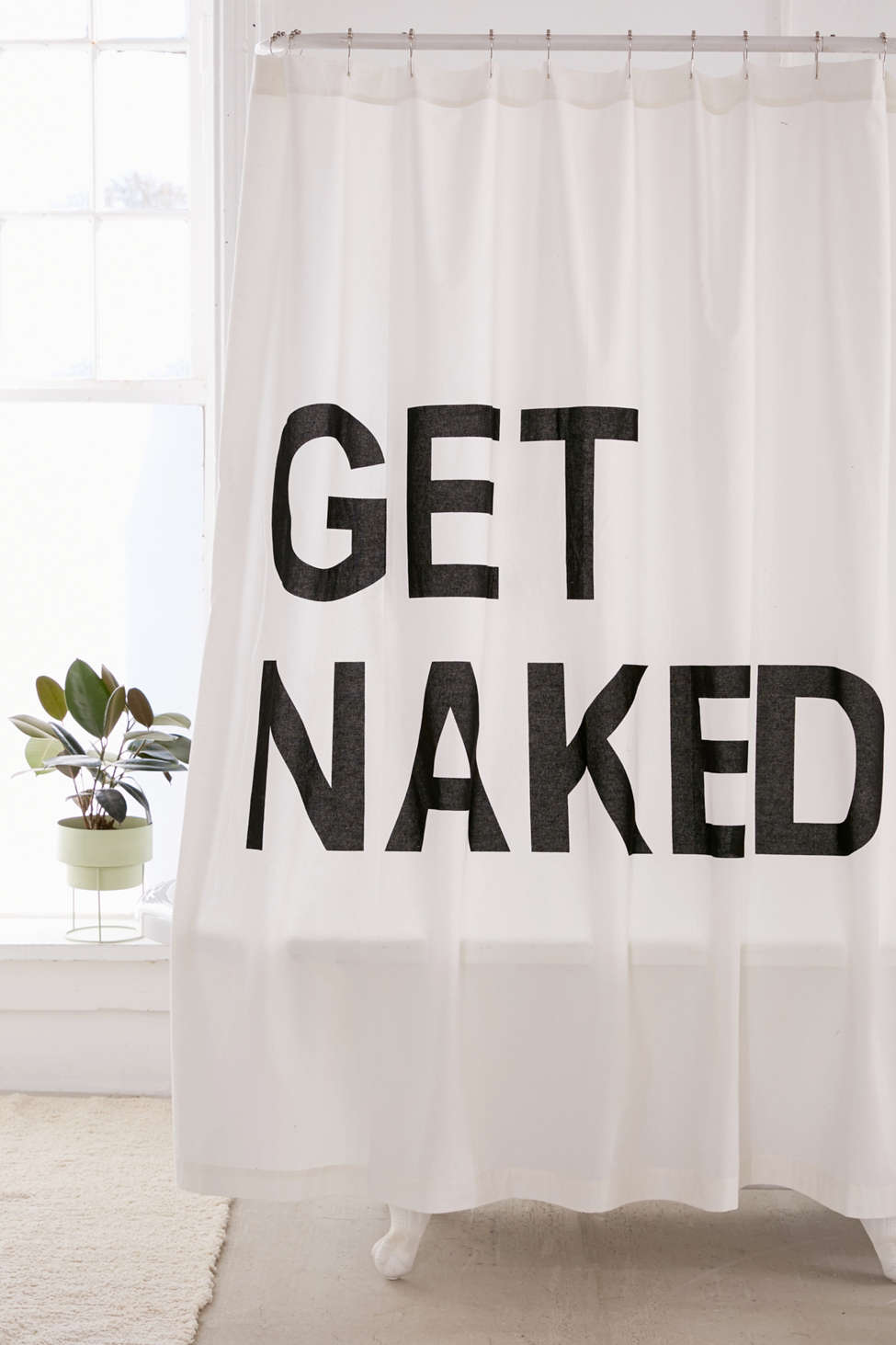 Slide View: 1: Get Naked Shower Curtain