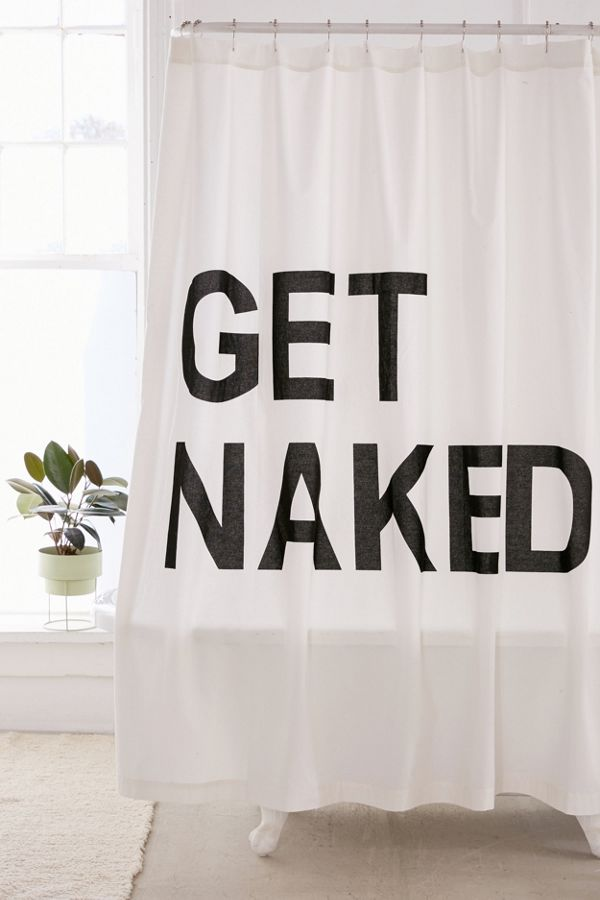 Slide View 1 Get Naked Shower Curtain
