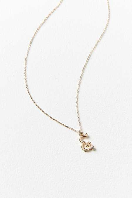 Scripted Initial Necklace