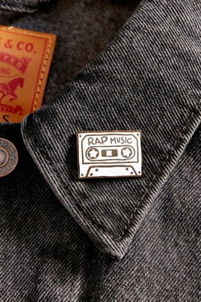MNKR Rap Music Pin - White One Size at Urban Outfitters