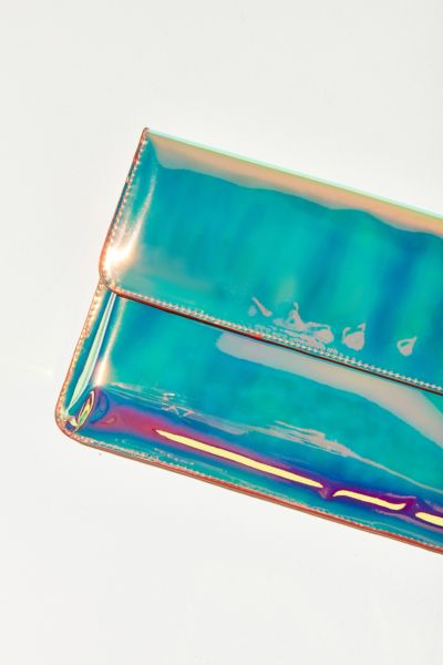 Iridescent Flap Clutch - Multi One Size at Urban Outfitters