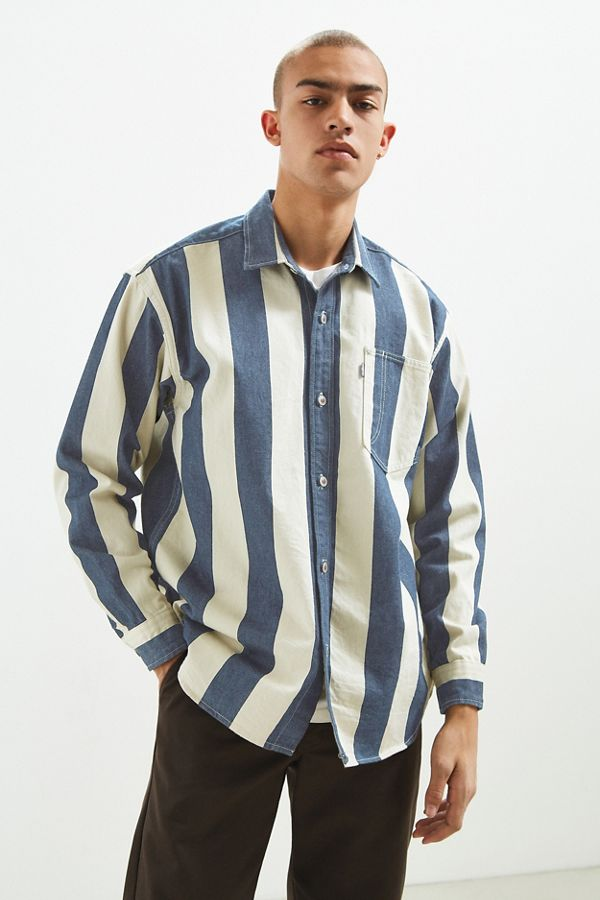 Levi's Silvertab Vertical Stripe Denim Button-Down Shirt | Urban ...