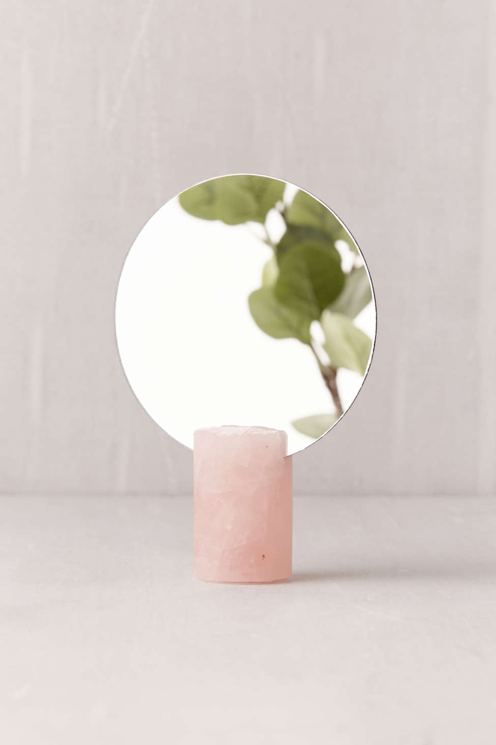 Slide View: 3: Another Human X UO Rose Quartz Cylinder Mirror