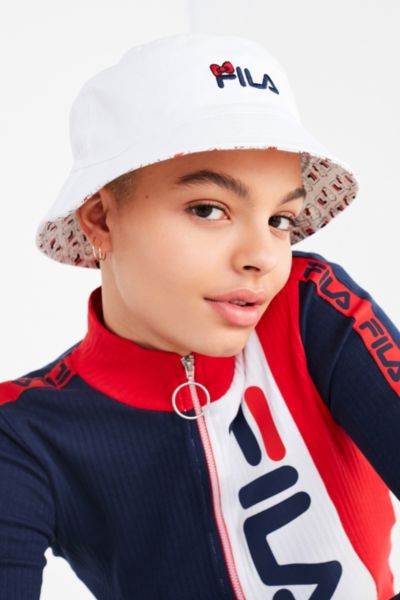 FILA X Sanrio For UO Reversible Bucket Hat - Neutral Multi One Size at Urban Outfitters