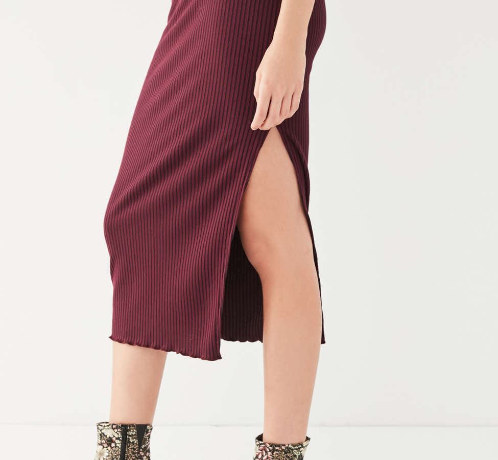 Slide View: 6: UO High-Rise Lettuce-Edge Midi Skirt