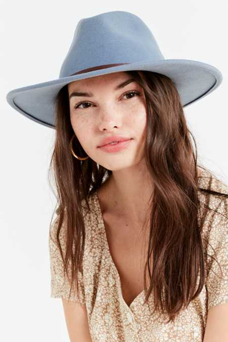 Structured Brim Felt Panama Hat