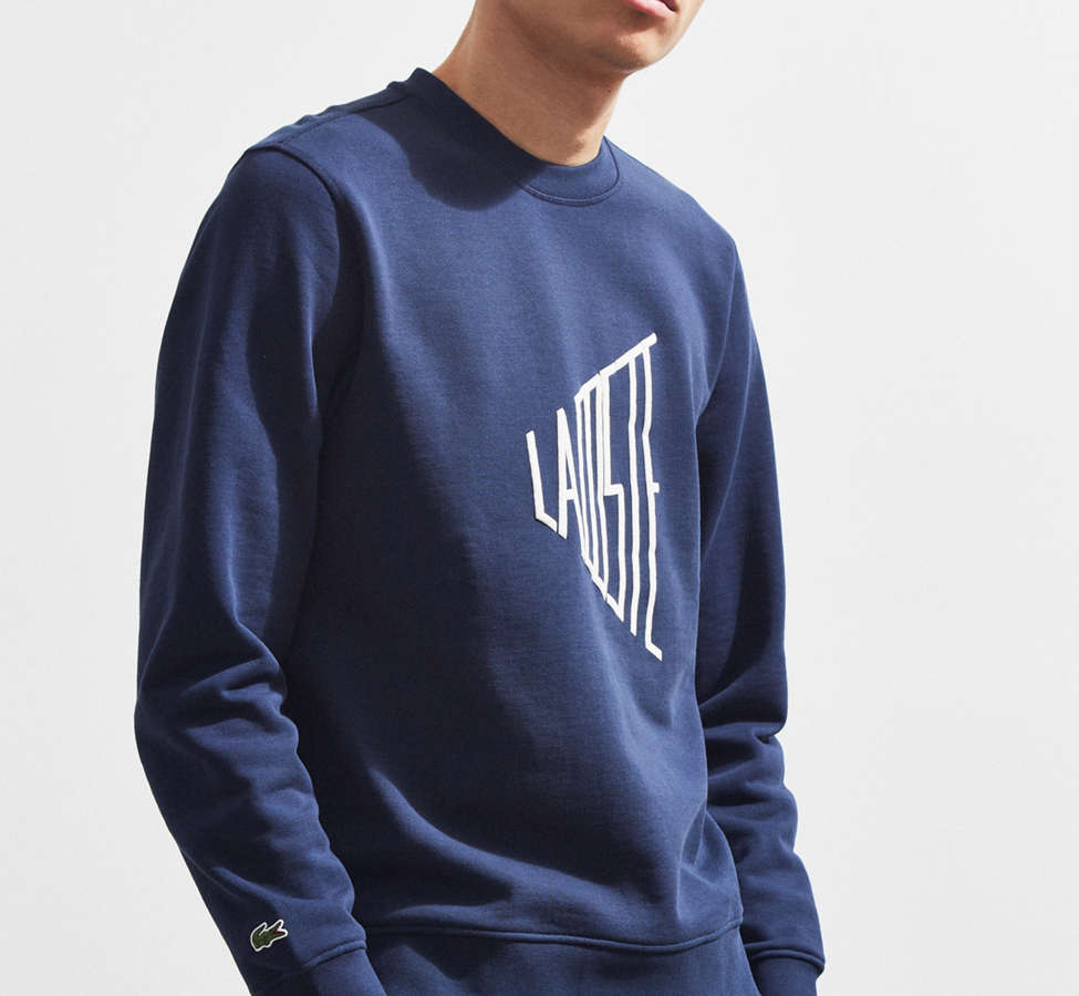Slide View: 1: Lacoste Embroidered Crew Neck Sweatshirt