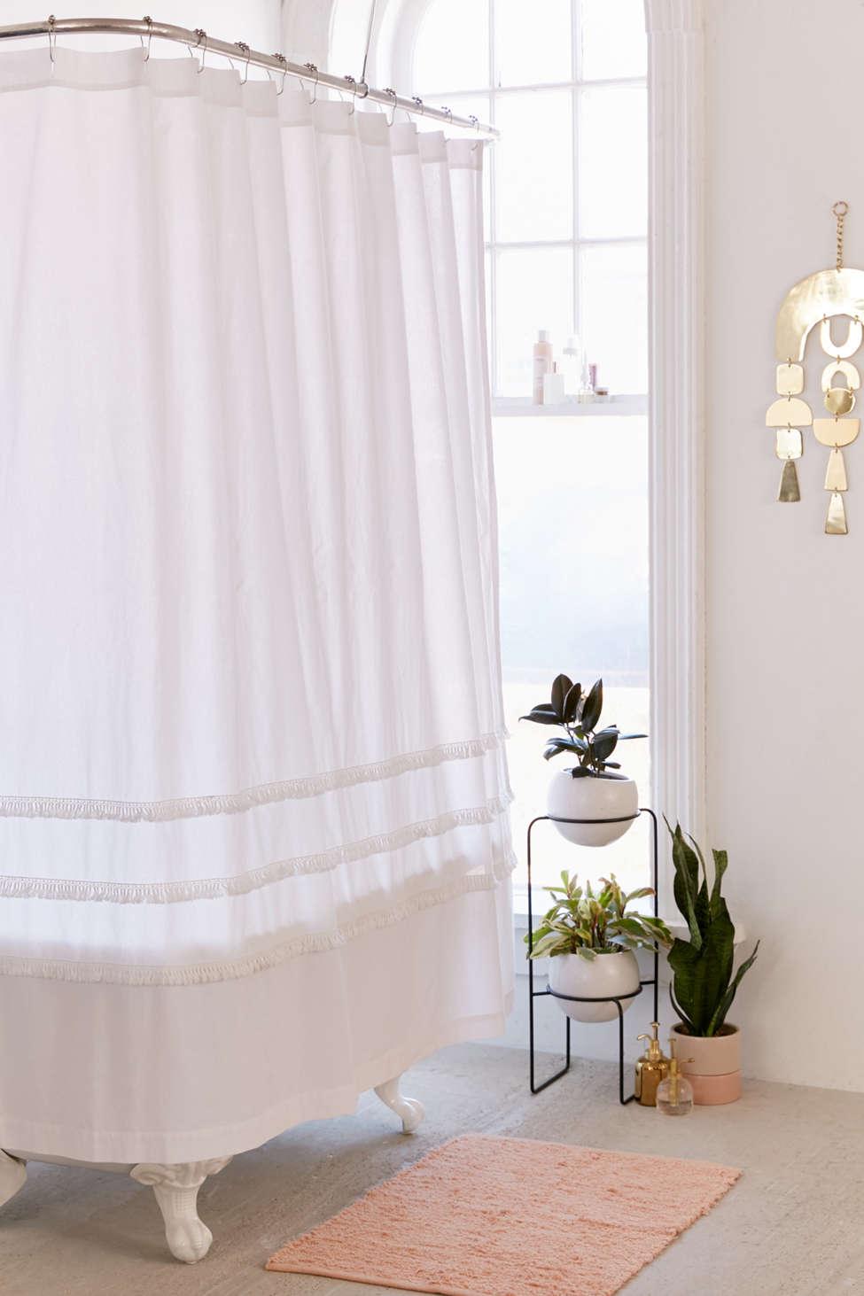 Slide View: 1: Henri Fringe Shower Curtain