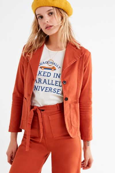 Sugarhigh Lovestoned After Midnight Blazer - Rust XS at Urban Outfitters