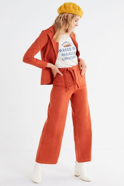 Sugarhigh Lovestoned Woody Wide-Leg Pant - Rust 0 at Urban Outfitters