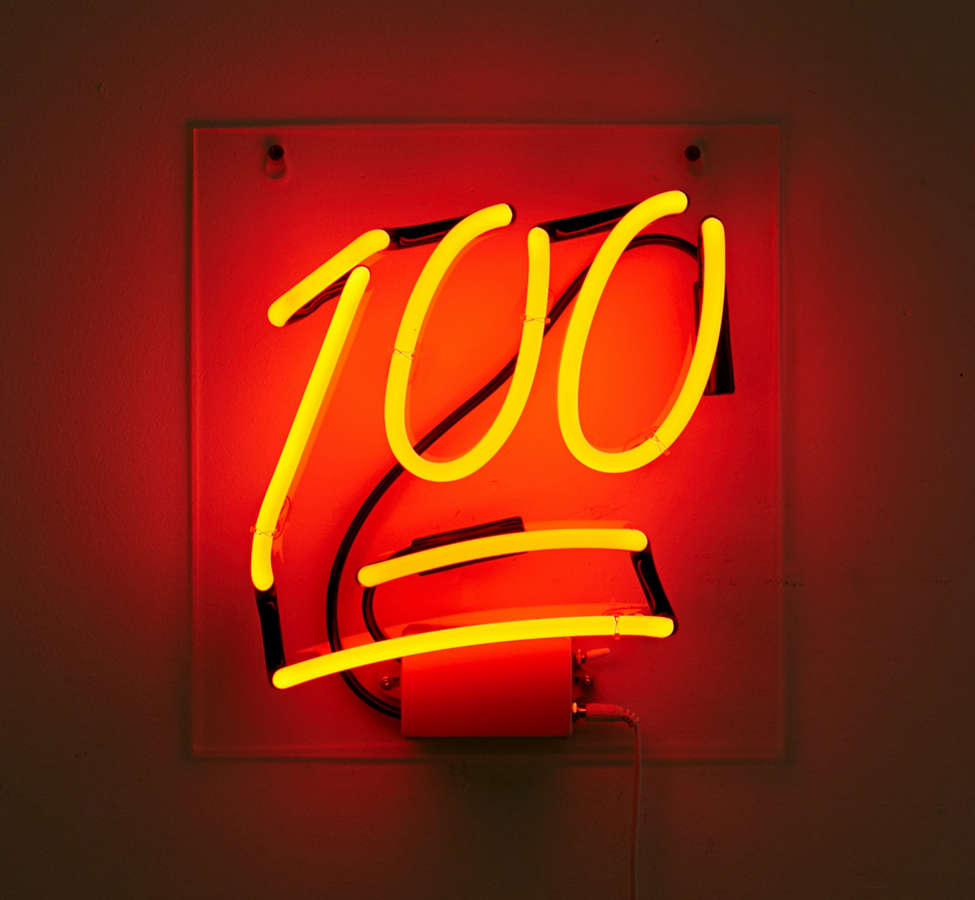 Slide View: 2: 100 Neon Sign