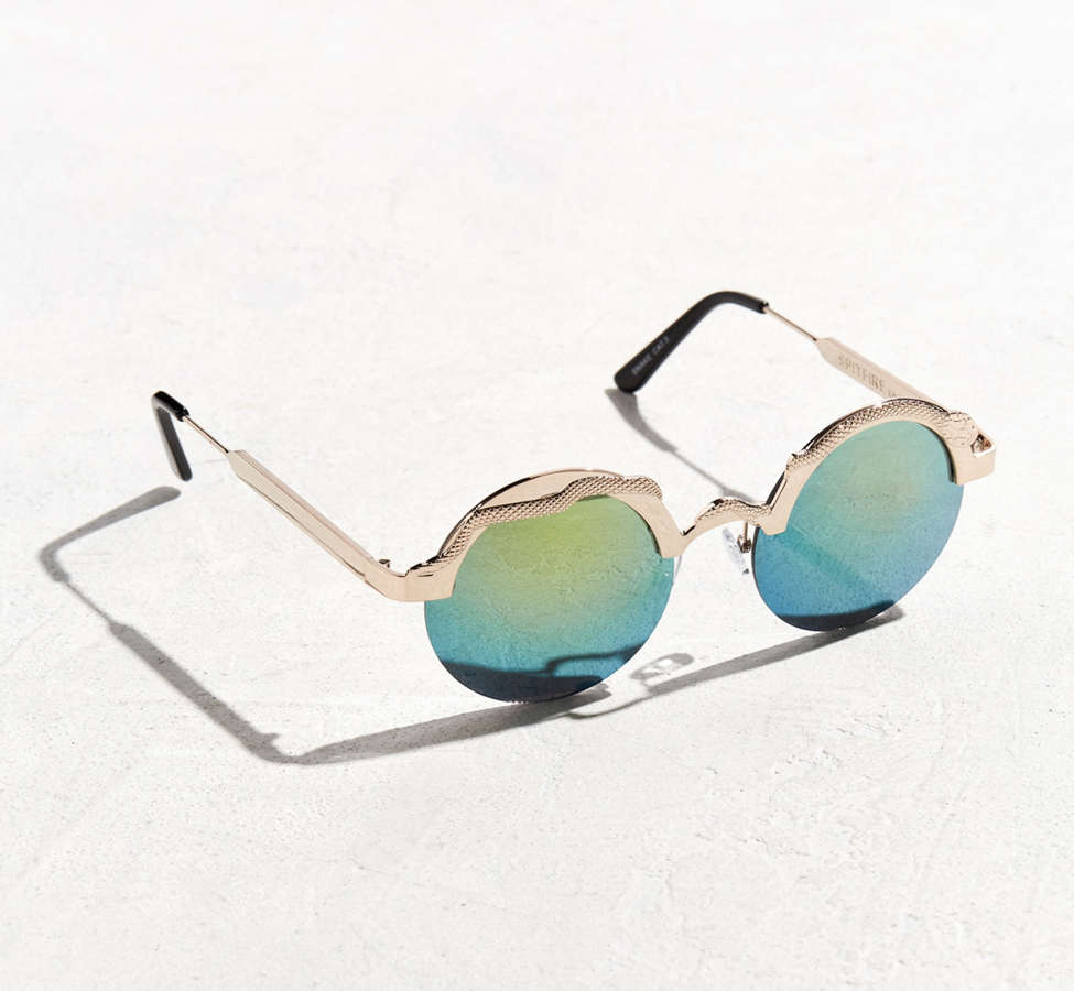 Slide View: 1: Spitfire Snake Round Sunglasses
