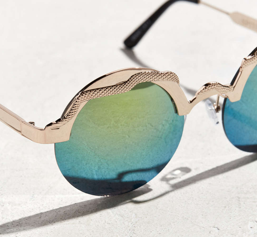 Slide View: 2: Spitfire Snake Round Sunglasses