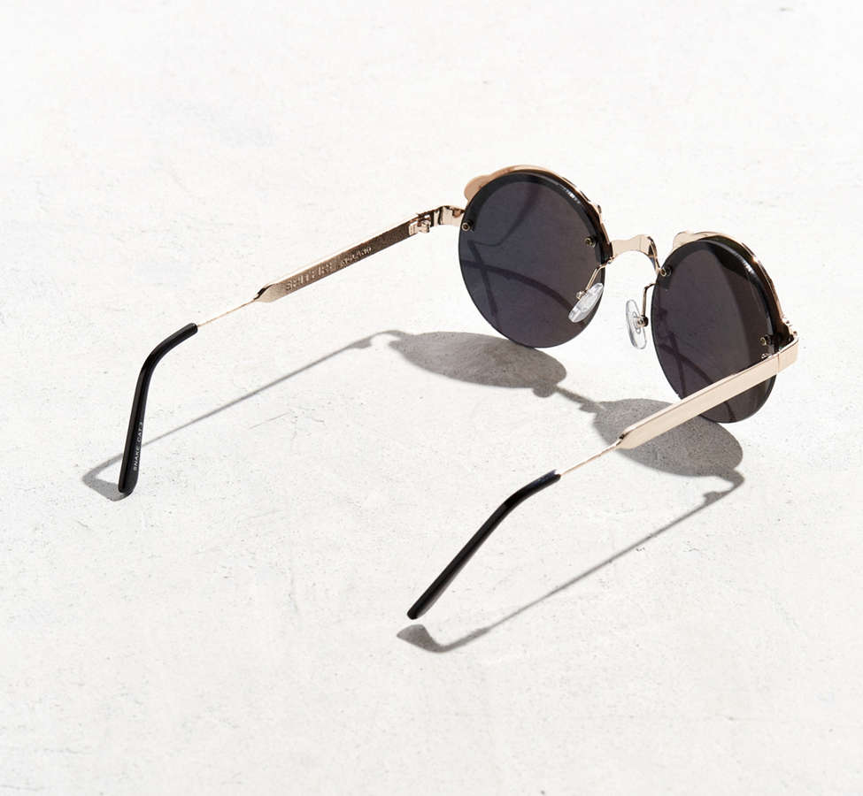 Slide View: 3: Spitfire Snake Round Sunglasses