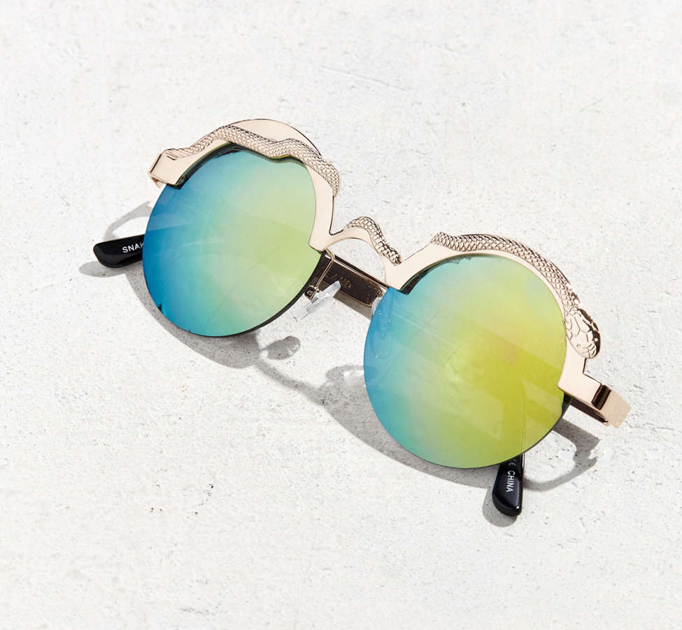 Slide View: 4: Spitfire Snake Round Sunglasses