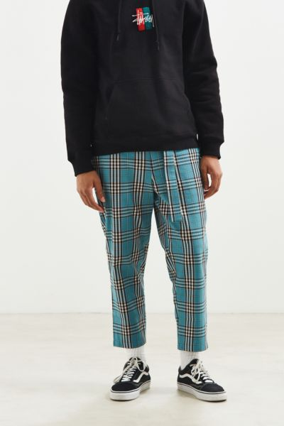 UO Plaid Work Pant - Turquoise 30 at Urban Outfitters