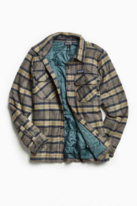 Patagonia Fjord Insulated Plaid Flannel Button-Down Shirt