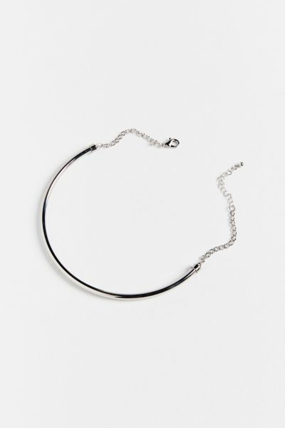 Structured Collar Necklace - Silver One Size at Urban Outfitters