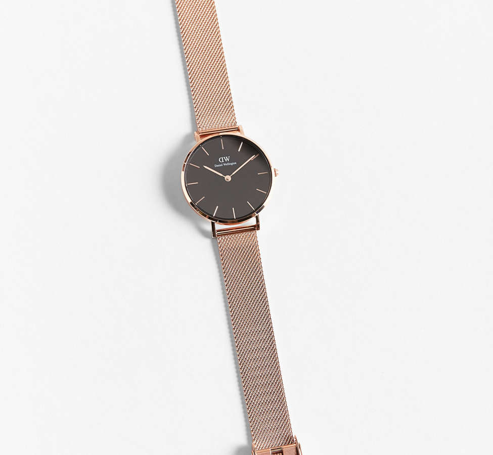 Slide View: 1: Daniel Wellington Classic Petite Melrose Mesh Band Watch