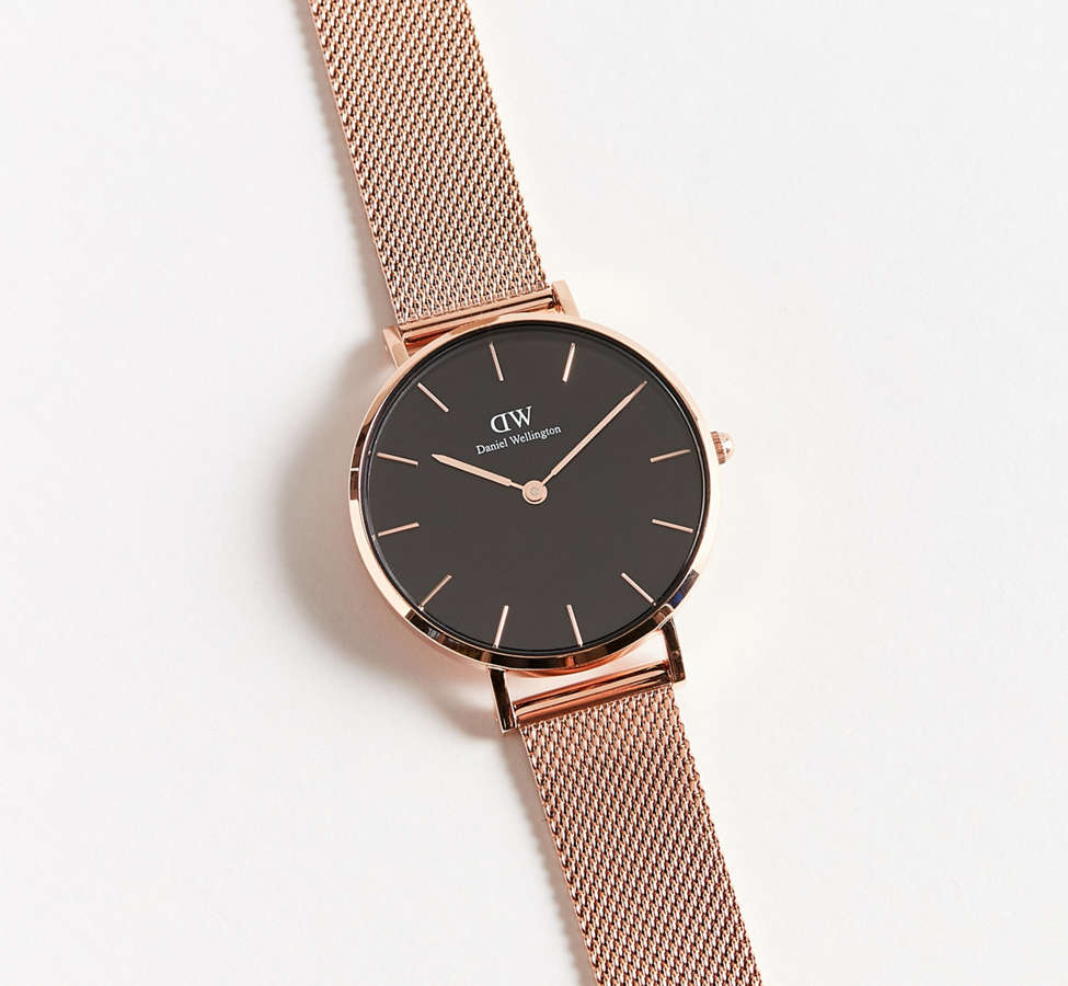 Slide View: 2: Daniel Wellington Classic Petite Melrose Mesh Band Watch
