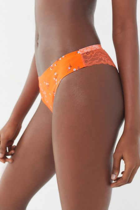 Out From Under Nina Laser-Cut Lace-Back Thong 6531cea9b