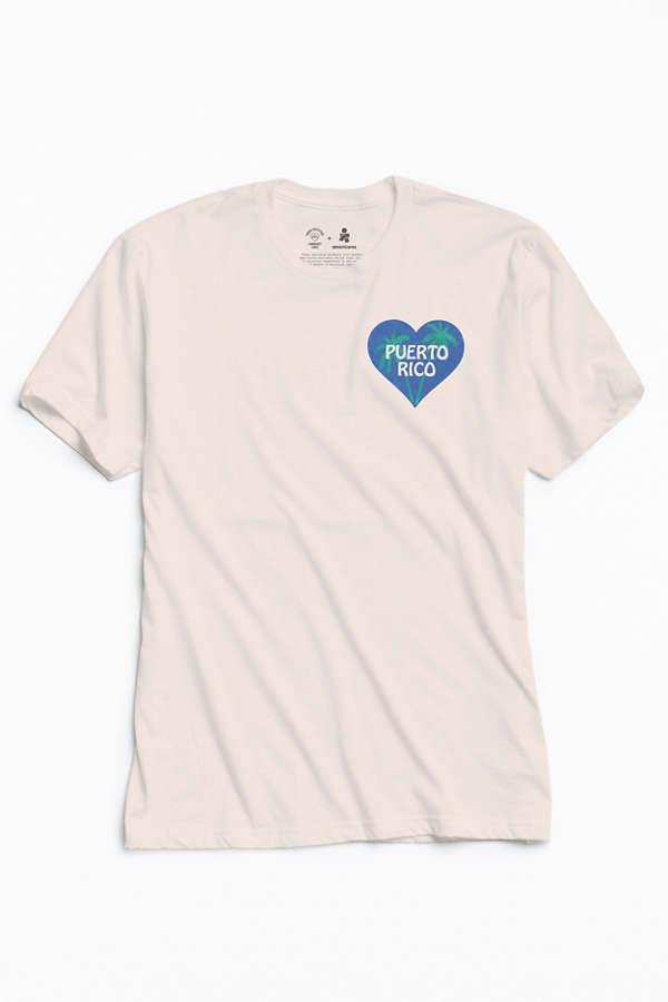 UO Community Cares + Hurricane Relief Puerto Rico Heart Tee