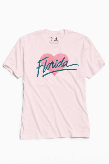 UO Community Cares + Hurricane Relief Florida Heart Tee