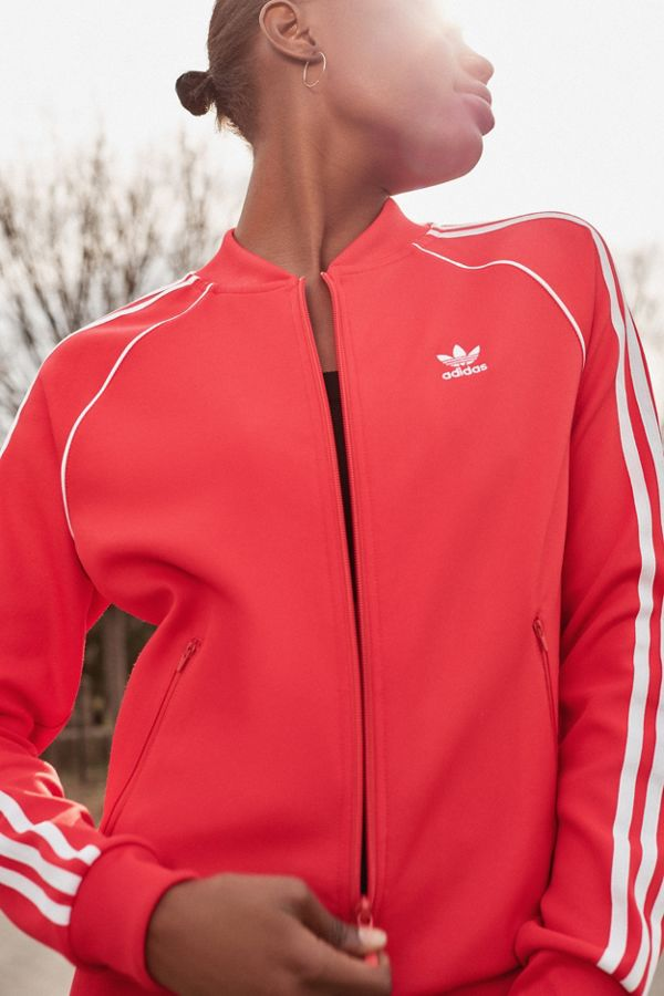 7e92bee92c1c Adidas Originals Superstar Track Jacket In Red Bk5918 Famous