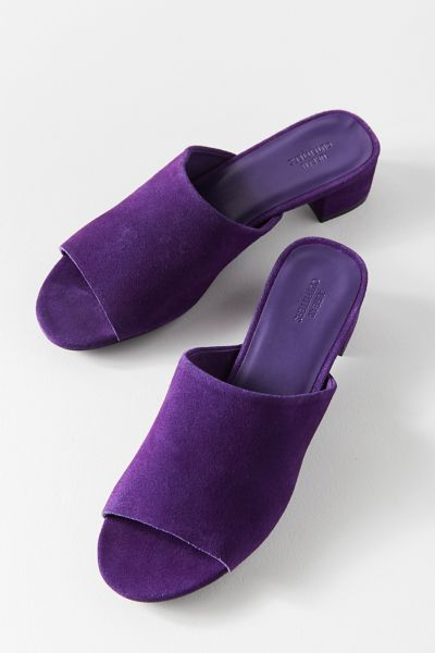 Patti Suede Mule Heel - Purple 6 at Urban Outfitters
