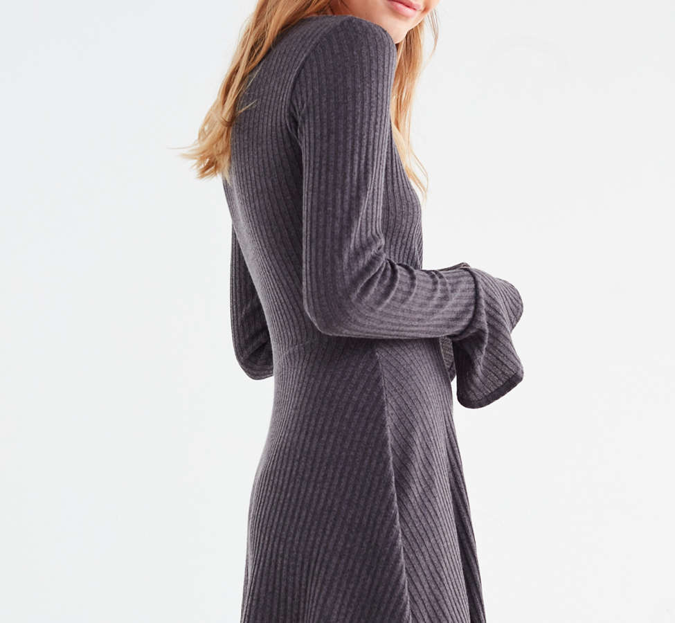 Slide View: 4: Pins And Needles Flutter Sleeve Wrap Dress