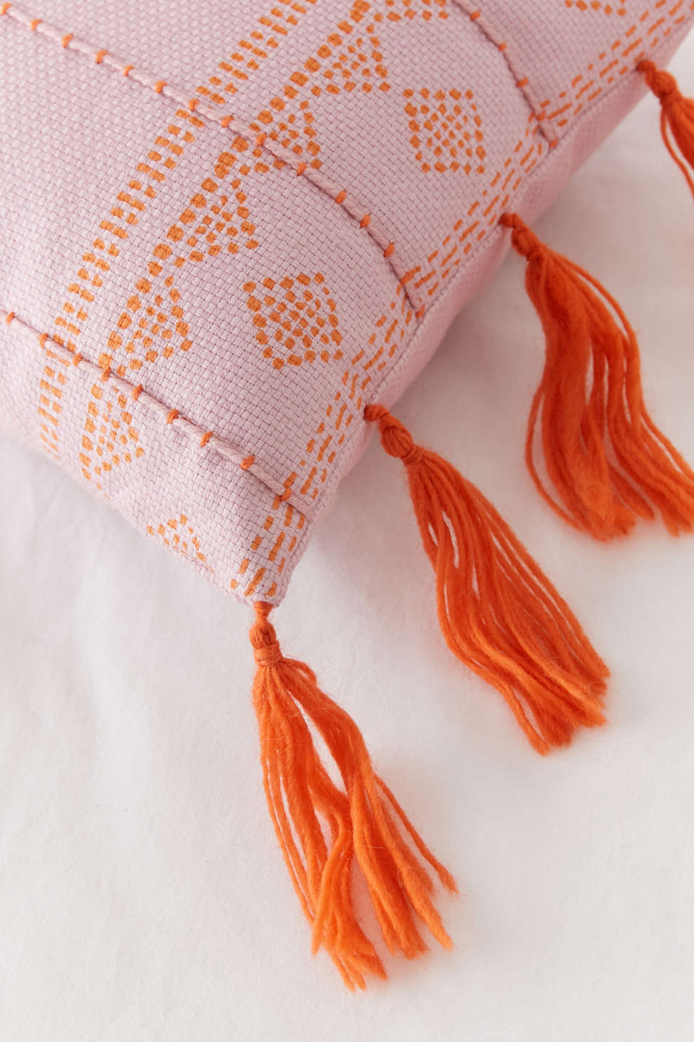 Slide View: 4: Asha Embroidered Lumbar Pillow