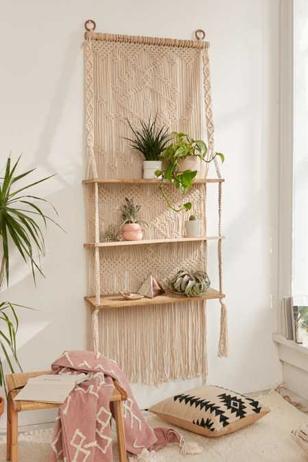 Macramé Hanging Shelf