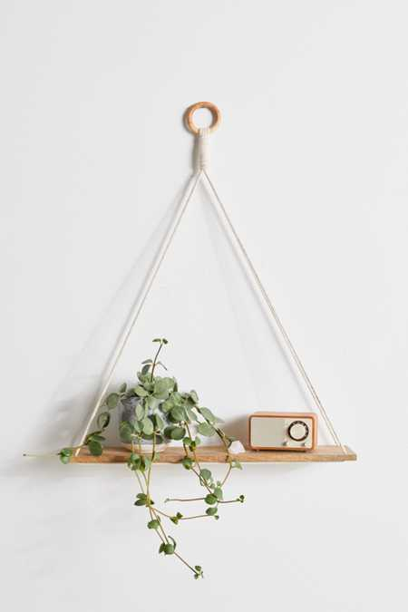 Elie Macramé Hanging Shelf